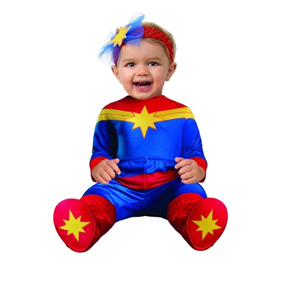 Rubie S Costumes Captain Marvel Hero Infant Baby Halloween Costume Poshmark Step into the imaginative world of marvel in one of our marvel superhero costumes. captain marvel hero infant baby halloween costume